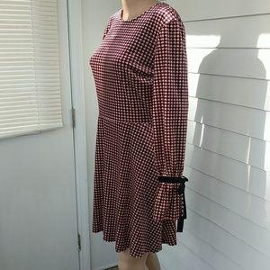 Xhilaration Velvet Print Long Sleeve Skater Dress